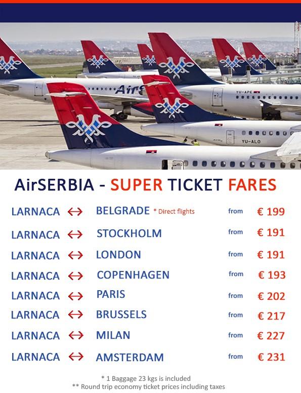 AIRSERBIA - SUPER TICKET FARES - Opera Travel Ltd | AIR
